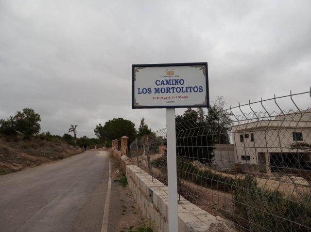 Comienzan durante esta semana las labores de renovación de la cartelería informativa de los caminos rurales del municipio de Totana
