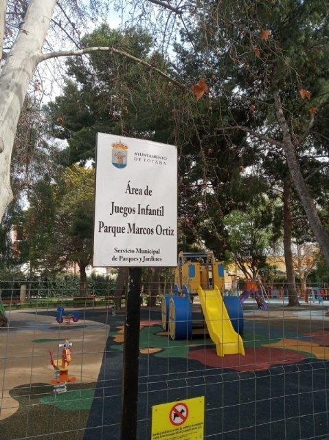 Se reabre a partir de mañana la zona de juegos infantiles del Parque Municipal Marcos Ortiz - 3, Foto 3