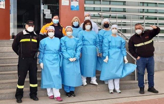Continúa la vacunación de los mayores de 80 años y dependientes en el Centro de Salud Totana Sur