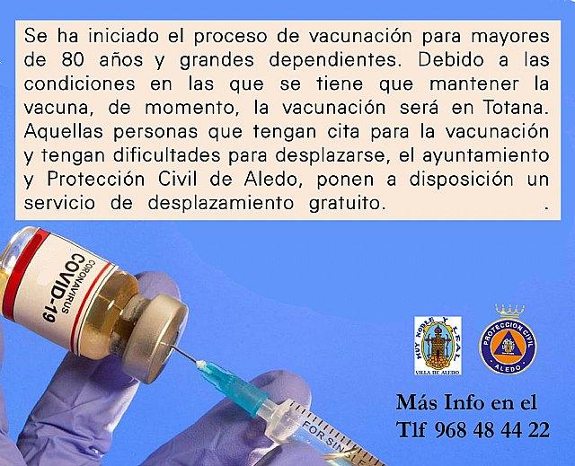Ya se ha iniciado la vacunación a las personas mayores de 80 años y grandes dependientes - 1, Foto 1