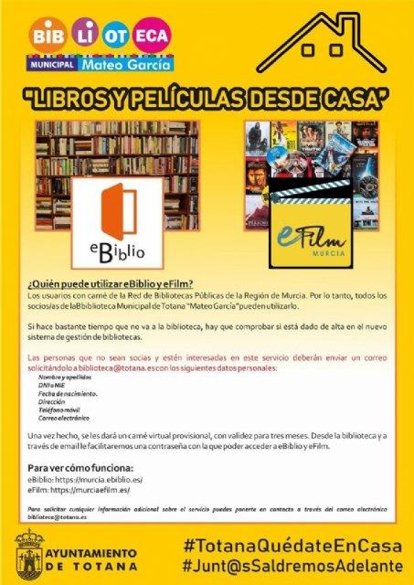 """La Biblioteca Municipal """"Mateo Garc�a"""" te ofrece dos interesantes alternativas para el entretenimiento y la cultura en casa, Foto 1"""