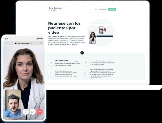 KRY lanza en España Care Connect, una plataforma gratuita que ayuda a los médicos a mantener el contacto con sus pacientes en el contexto del COVID-19 - 1, Foto 1