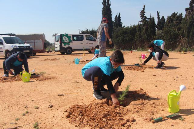El Ayuntamiento y la comunidad escolar inician la plantación de la pinada El Mar Menor de los niños - 3, Foto 3