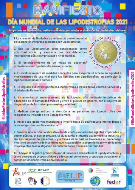 [Totana se sumará al Manifiesto del Día Mundial de las Lipodistrofias que se celebra el próximo día 31 de marzo