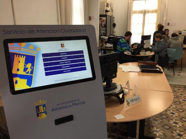 El Ayuntamiento de Alhama de Murcia incorpora un sistema de cita previa para evitar esperas - 2, Foto 2