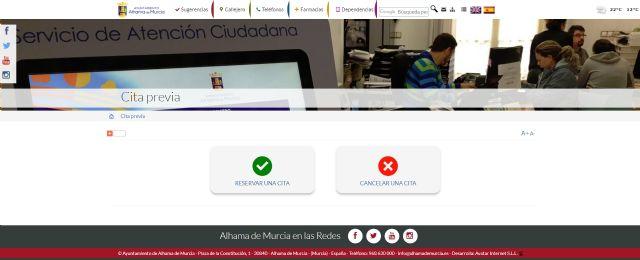 El Ayuntamiento de Alhama de Murcia incorpora un sistema de cita previa para evitar esperas - 3, Foto 3