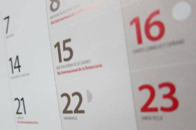 Proponen el 7 de enero y el 10 de diciembre como las dos festividades locales para el año 2020