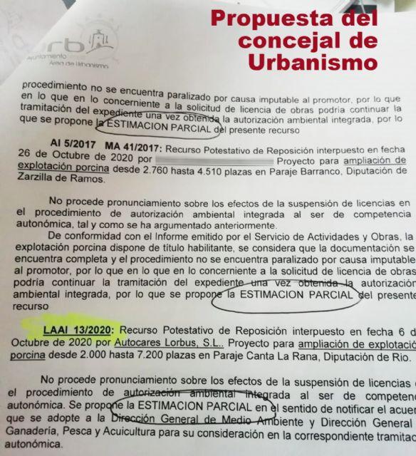 IU-Verdes Lorca desmiente que el Ayuntamiento vaya a tumbar trece proyectos de macrogranjas por incumplir las distancias - 1, Foto 1