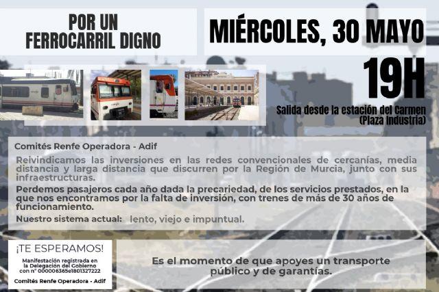 El 30 de Mayo, concentración por un ferrocarril digno, Foto 1