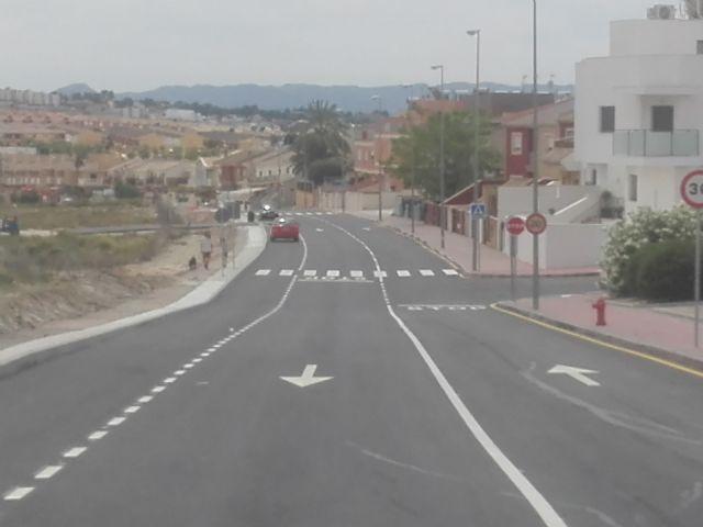 El Ayuntamiento de Molina de Segura abre al tráfico hoy lunes 25 de mayo la segunda fase de la Ronda Este, con una inversión de 154.185,48 euros - 2, Foto 2