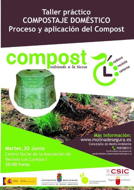El proyecto de compostaje doméstico de Molina de Segura llega a su fase final con el desarrollo del taller práctico Compostaje doméstico, proceso y aplicación del compost - 1, Foto 1