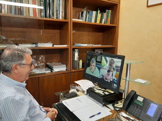 El Presidente de la CHS se ha reunido esta mañana por video conferencia con  el Acalde de Lorca, para tratar temas de interés municipal - 1, Foto 1
