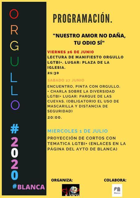 El municipio de Blanca celebrará el Día Internacional del Orgullo LGTBIQ+ - 2, Foto 2