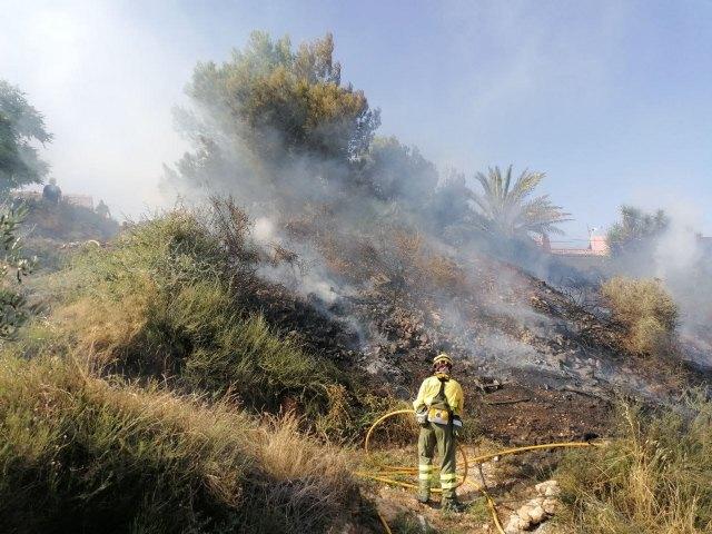 Incendio forestal en Alhama de Murcia, Foto 1