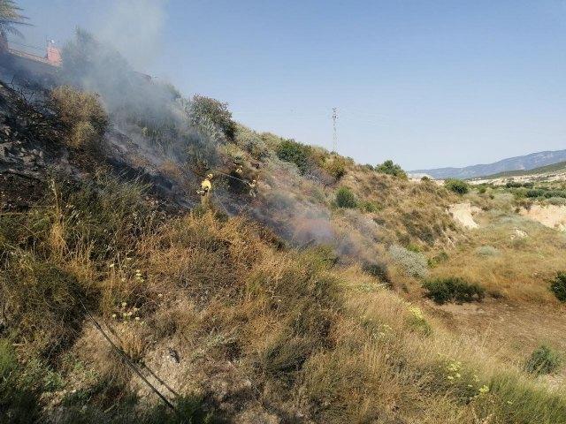 Incendio forestal en Alhama de Murcia, Foto 2