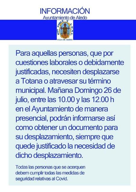 Comunicado del Ayuntamiento de Aledo sobre la situación de Totana y los accesos a la A7 - 2, Foto 2