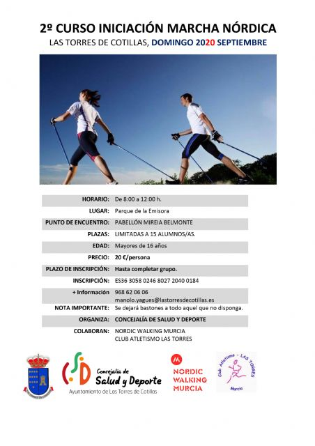 La Concejalía de Salud y Deportes propone un nuevo curso de iniciación a la marcha nórdica - 1, Foto 1
