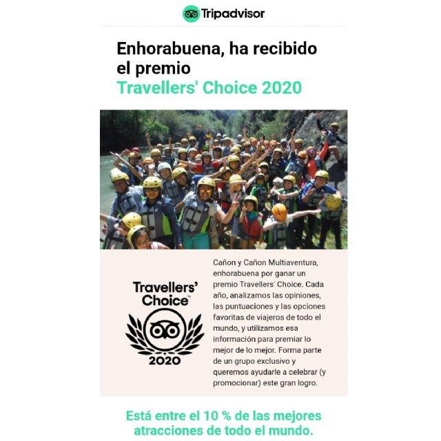 Tripadvisor otorga el premio Travellers´ Choice 2020 a dos empresas de Turismo Activo de Calasparra - 4, Foto 4