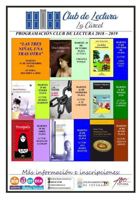 "The program ""Reading Club 2018/19"" begins with the analysis and reading of a work every month until June, Foto 1"