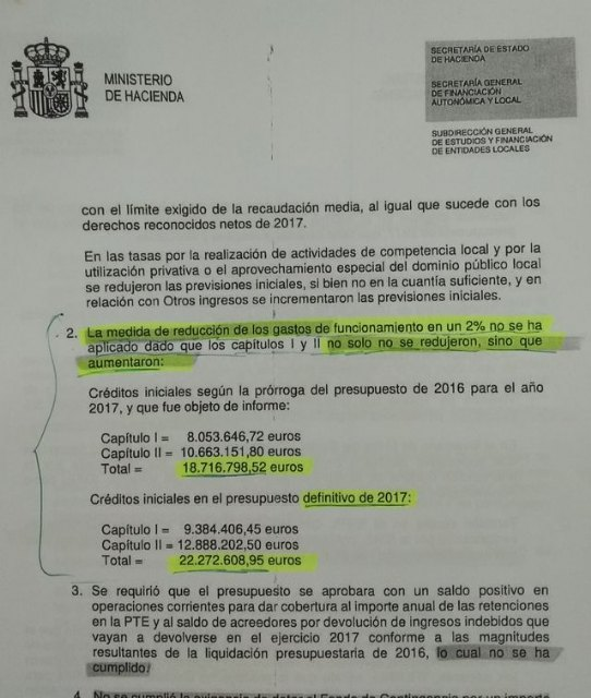"The PP denounces that the mayor and his left-wing partner team ""cheat"" the Ministry of Finance, Foto 2"
