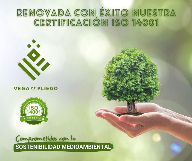 Vega de Pliego ha renovado con éxito la certificación en la norma ISO 14001 - 1, Foto 1