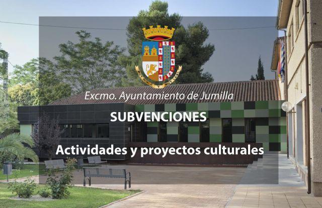 Subvenciones proyectos culturales - apertura de plazo - 1, Foto 1