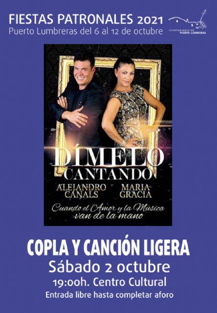 Rià Pità celebrará su XXI Festival Flamenco el sábado 2 de octubre dentro de las Fiestas Patronales de Puerto Lumbreras - 1, Foto 1