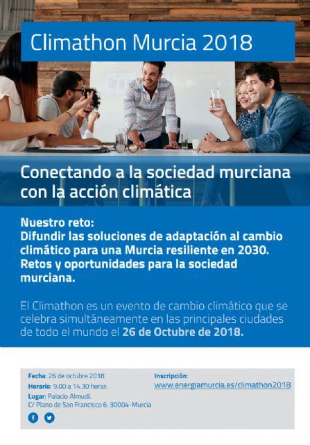 El Ayuntamiento de Murcia celebra mañana el Climathon por tercer año consecutivo - 1, Foto 1