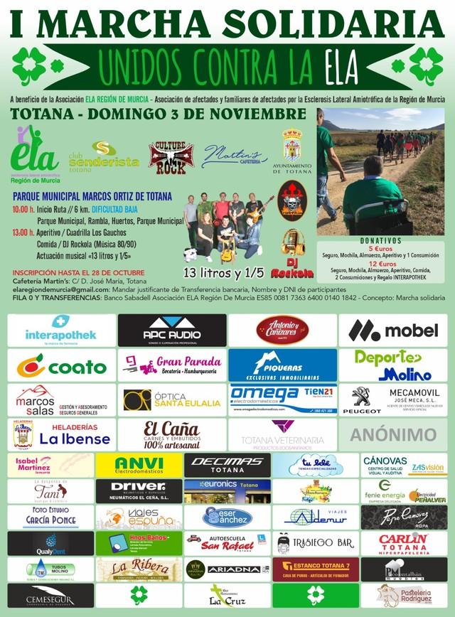"""Totana celebra la I Marcha Solidaria """"Unidos por la ELA"""" el pr�ximo 3 de noviembre, Foto 3"""