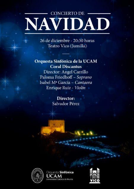 Coral Discantus y Sinfónica UCAM estrenan en Jumilla un villancico-plegaria de Julián Santos - 1, Foto 1