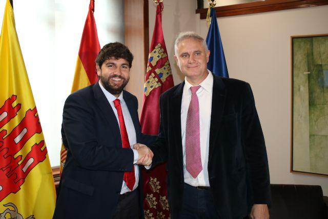 El presidente Fernando López Miras recibe al alcalde de Albudeite - 1, Foto 1