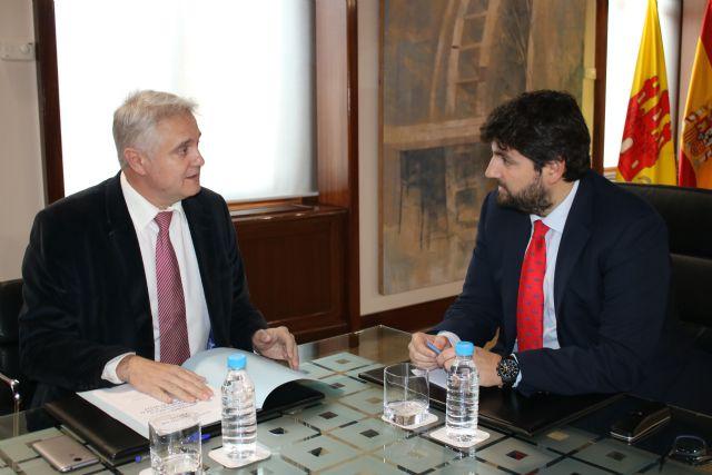 El presidente Fernando López Miras recibe al alcalde de Albudeite - 2, Foto 2