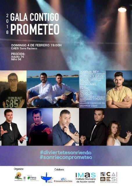 Gala CONTIGO de la Asociación Prometeo el 4 de febrero en el Centro de Artes Escénicas de Torre-Pacheco - 1, Foto 1