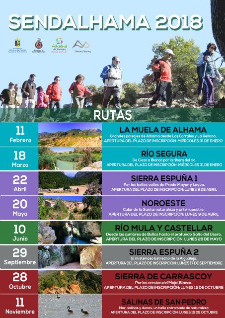 Sendalhama 2018 propone ocho nuevas rutas para conocer los paisajes de la Región, Foto 1