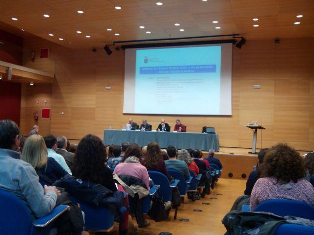 Jornada de trabajo técnico sobre la ley de Servicios Sociales en la Región de Murcia, Foto 1