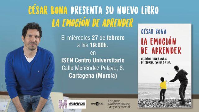 César Bona hablará sobre educación en Cartagena de la mano del Premio Mandarache - 1, Foto 1