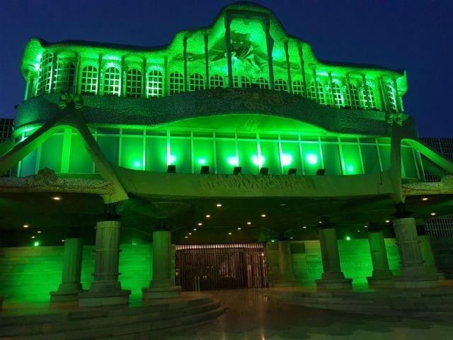 Edificios y espacios públicos de diferentes municipios se tiñen de verde para dar visibilidad al Día Mundial de las Enfermedades Raras