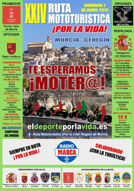 La Ruta Mototurística ¡Por la Vida! en su veinticuatro edición pasará por Alcantarilla, hoy se presentó en el Ayuntamiento - 1, Foto 1