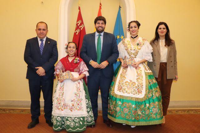 Fernando López Miras recibe a la Reina de la Huerta 2019 y a la Reina de la Huerta Infantil - 1, Foto 1