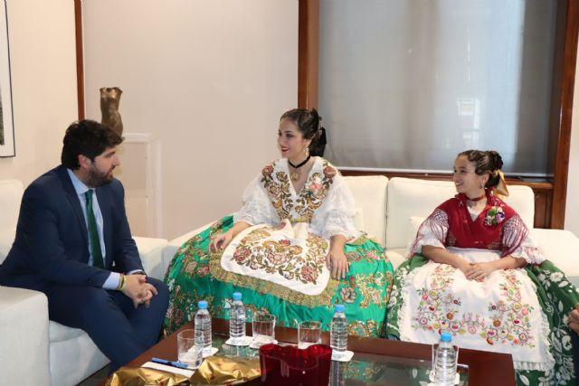 Fernando López Miras recibe a la Reina de la Huerta 2019 y a la Reina de la Huerta Infantil - 2, Foto 2