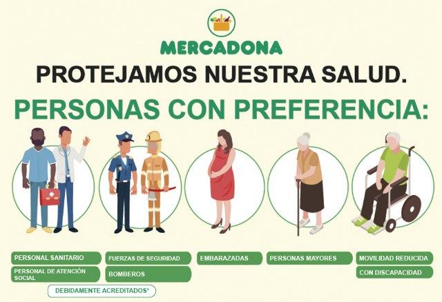 Mercadona dará prioridad a personal sanitario, fuerzas de seguridad, bomberos y personal de atención social - 2, Foto 2