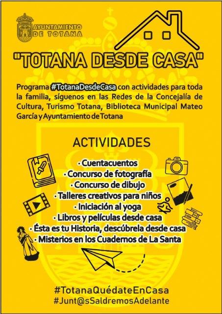 """La Concejalía de Cultura promueve el programa """"Totana desde casa"""", con actividades a distancia para toda la familia - 2, Foto 2"""