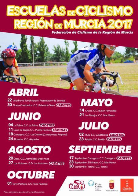 Éxito de participación en la presentación de las Escuelas de Ciclismo de Carretera en el Velódromo de Torre-Pacheco - 1, Foto 1