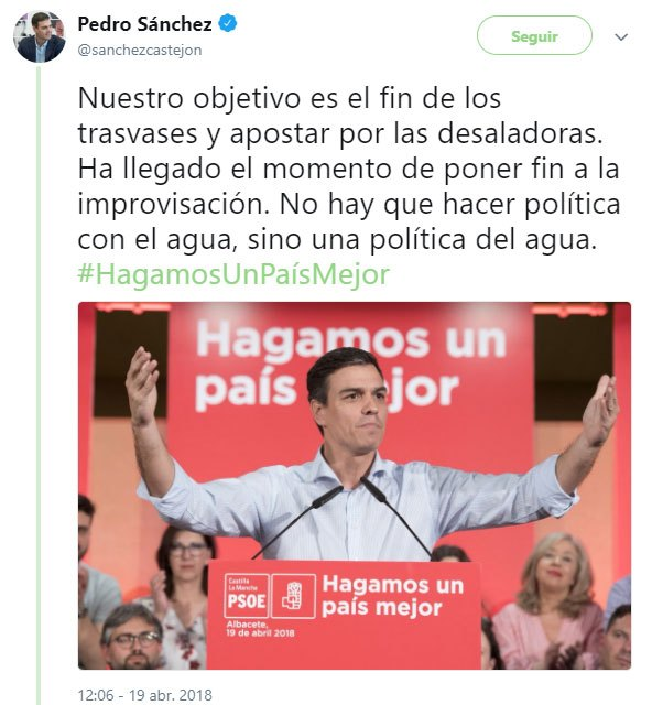 The PP will propose tonight before the Plenary to reproach Pedro Sánchez, National Secretary General of the Socialists, for his statements against the transfers