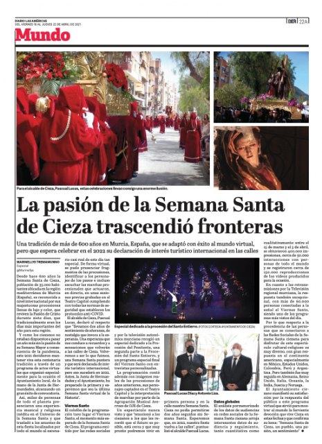 Gran repercusión internacional de la Semana Santa de Cieza - 3, Foto 3