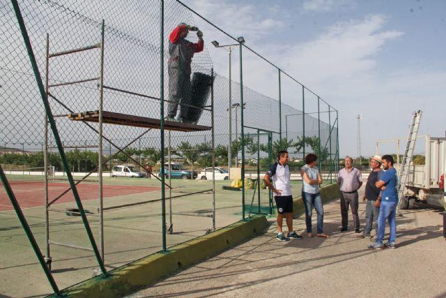 Se inician las obras de mejora en las pistas de tenis de Puerto Lumbreras - 1, Foto 1