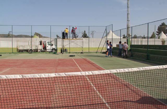 Se inician las obras de mejora en las pistas de tenis de Puerto Lumbreras - 2, Foto 2
