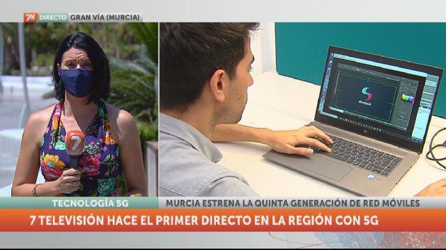 La7 realiza la primera conexión en directo con 5G de la Región - 1, Foto 1