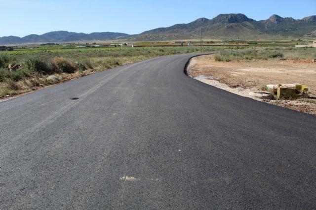 Finalizan las obras de asfaltado de los caminos de Murcia y El Prado - 1, Foto 1