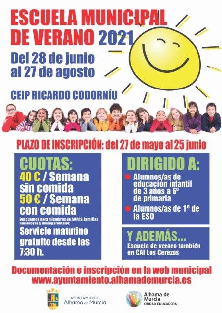 Abierto el plazo de inscripción en la Escuela Verano 2021 - 1, Foto 1